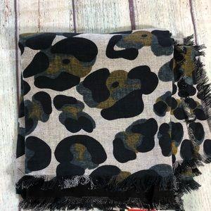 Mango NWT animal print scarf
